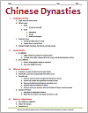 Chinese Dynasties Brief History Outline