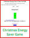 Interactive Christmas Energy Saver Game for Grades 1-6