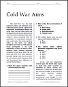 Cold War Aims Reading with Questions