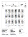 Constitutional Convention Word Search Puzzle
