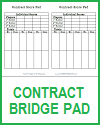 Contract Bridge Scoring Sheets