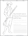 Davy Crockett Coloring Page