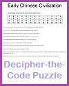 Early Chinese Civilization Decipher-the-Code Puzzle