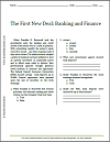 First New Deal: Banking and Finance Reading with Questions