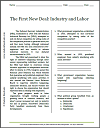 First New Deal: Industry and Labor Reading with Questions