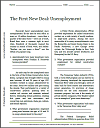 First New Deal: Unemployment Reading with Questions