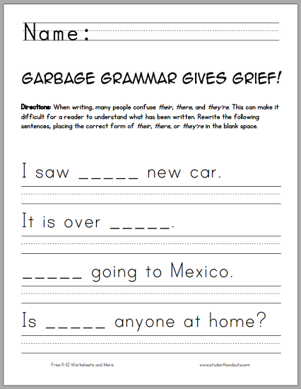 image about Printable Grief Workbook named Rubbish Grammar Provides Grief! Scholar Handouts