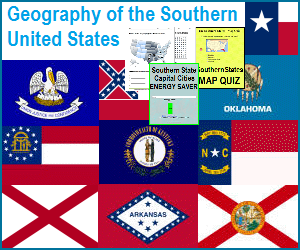American South - Free Geography Education Materials for K-12