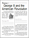 George III and the American Revolution Workbook for Grades 1-3