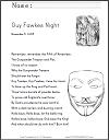 Guy Fawkes Night Lyrics
