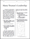 Harry Truman's Leadership Reading with Questions