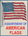 Assortment of Historic American Flags