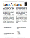 Jane Addams Reading with Questions