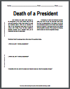 Death of a President Reading with Questions