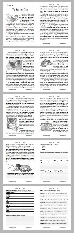 """The Kit-cat Club"" Story Workbook - Free to print (PDF file)."