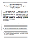 LBJ's Voting Rights Speech (1965) DBQ Worksheet