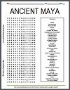 Mayan Civilization Word Search Puzzle