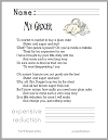 """My Grocer"" Poem Worksheet"