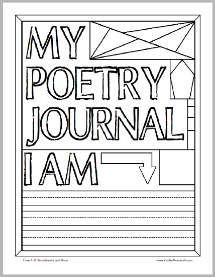 My Poetry Journal Cover to Color