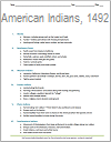 Native Americans in 1492 Printable Outline (PDF)