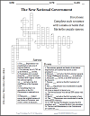 New National Government Crossword Puzzle