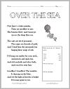 Over the Sea Poem Worksheet