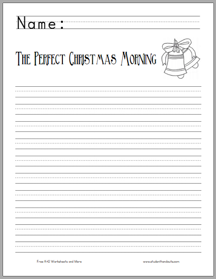 Perfect Christmas Morning Writing Prompt for Kids - Free to print (PDF file).