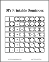 Printable Dominoes Game Pieces