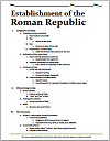 Ancient Roman Republic Printable Outline