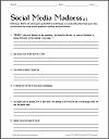 Social Media Madness Worksheet #1
