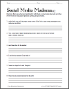 Social Media Madness #2 - Free printable grammar and punctuation worksheet for high school English classes.