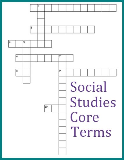 Social Studies Core Terms Crossword Puzzle 2