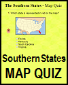 Southern States Online Map Quiz