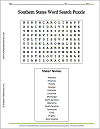 Southern States Word Search Puzzle