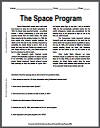 Space Program Reading with Questions