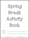 DIY Spring Break Activity Book Cover