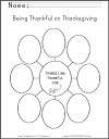 Thankfulness Blank Graphic Organizer Worksheet