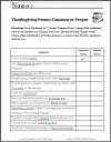 Thanksgiving Nouns Common or Proper Worksheet (Grades 1-3)