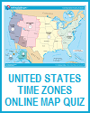 United States Time Zones Interactive Map Quiz