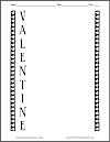 Valentine Acrostic Poem Worksheet