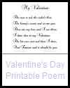 Valentine's Day Printable Poem