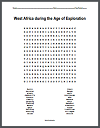 West Africa During the Age of Exploration Word Search Puzzle