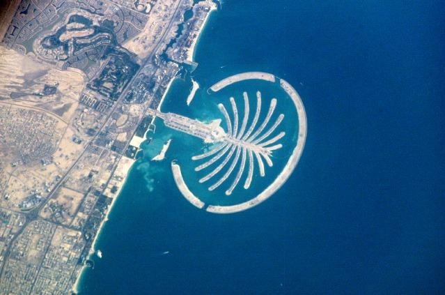 Palm Jumeirah, Dubai, UAE, from Space