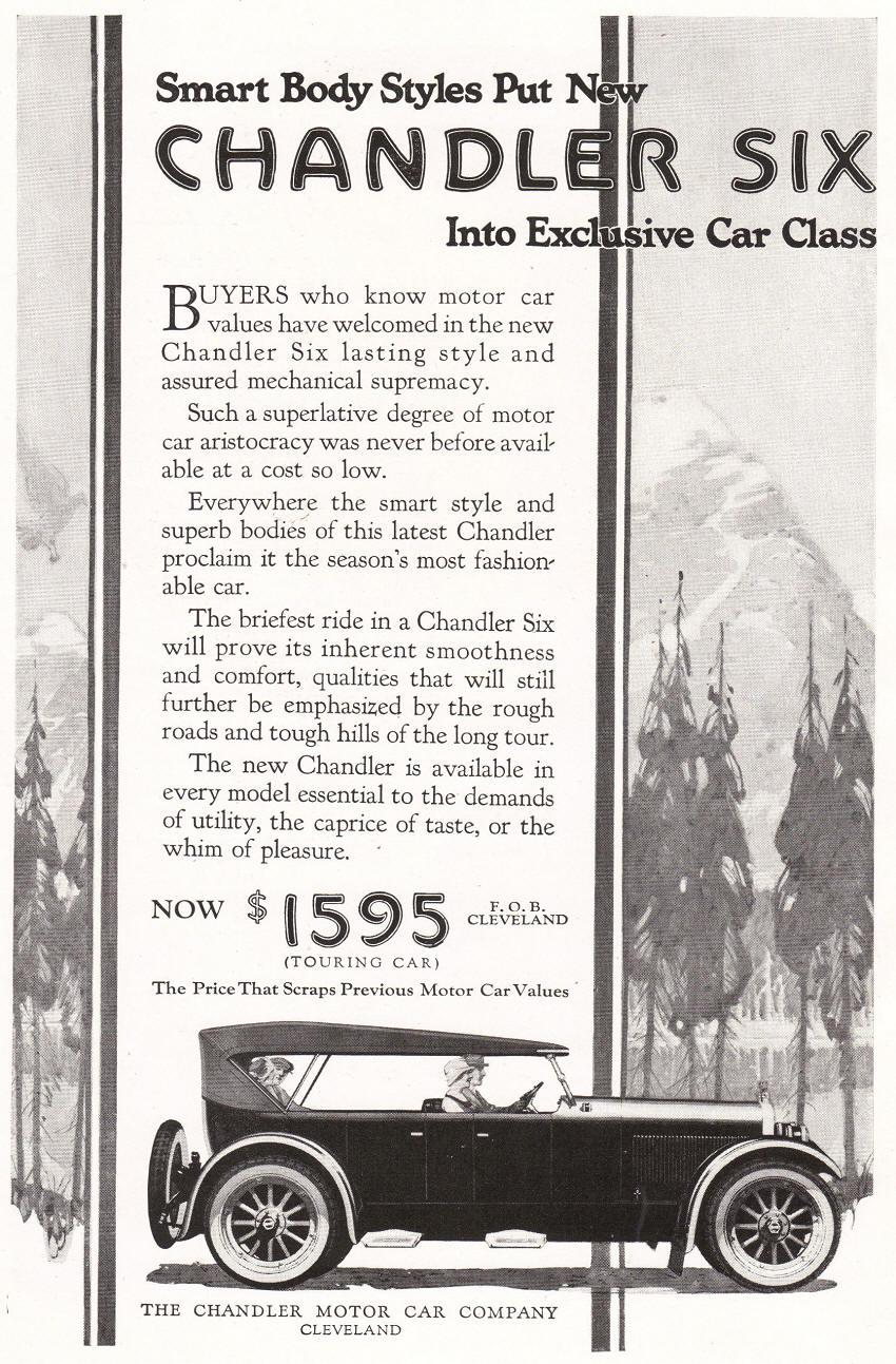 Chandler Motor Car Company Ad