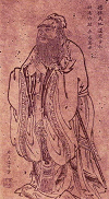 The Teaching Confucius by Wu Daozi, (685-758, Tang Dynasty)