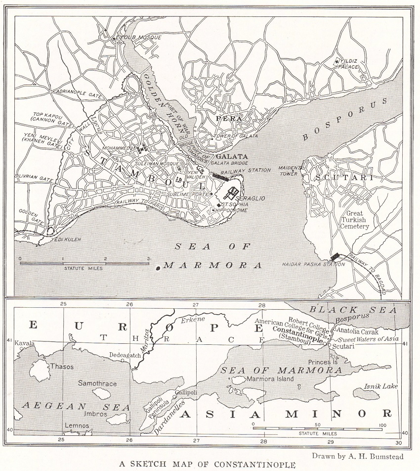 Sketch Map of Constantinople
