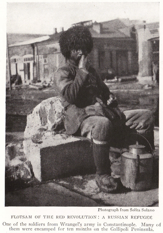 Russian Civil War Cossack Refugee in Istanbul, Turkey