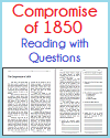 Compromise of 1850 Reading with Questions