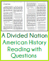 A Divided Nation Reading with Questions