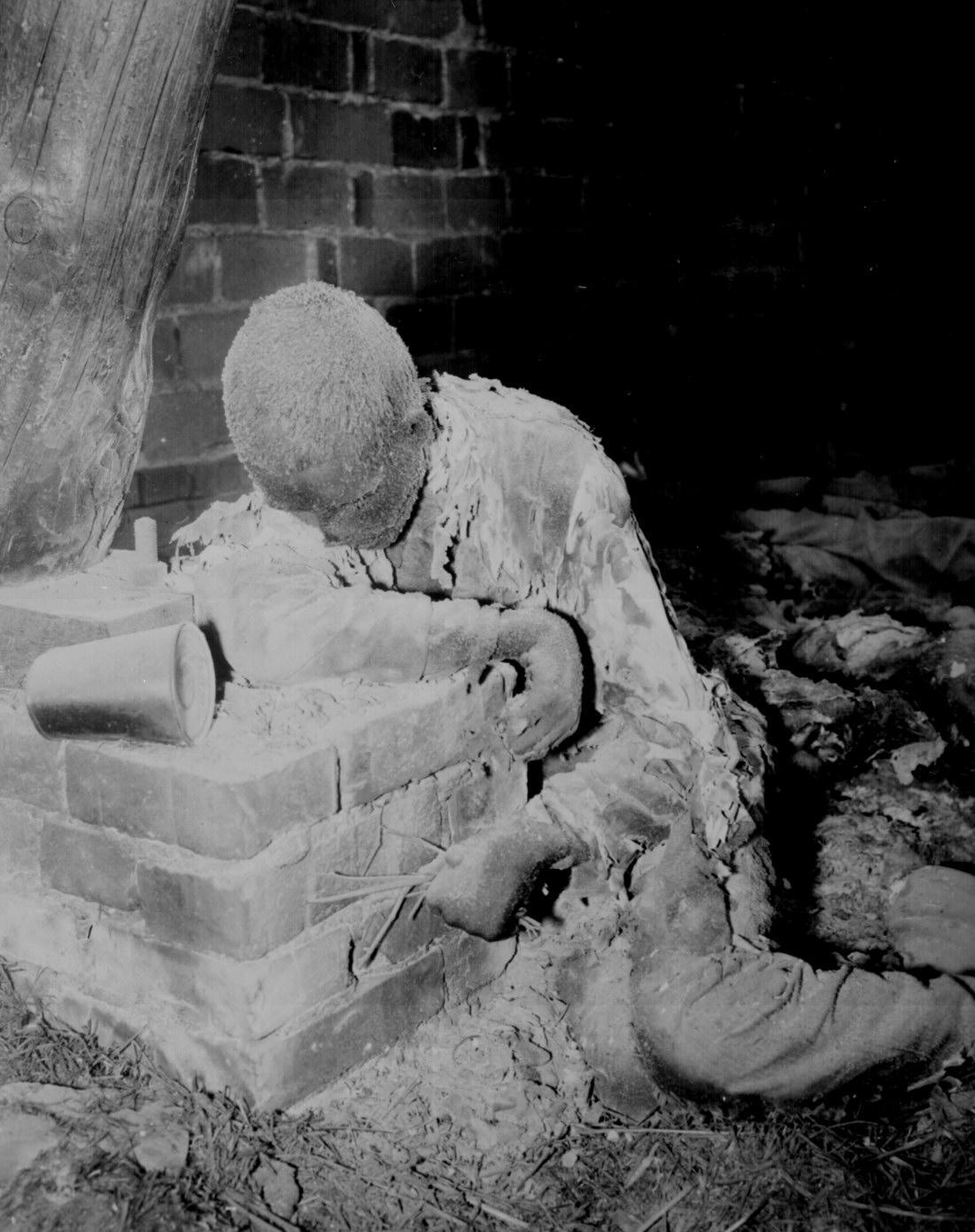 Victim of Nazi SS Burning